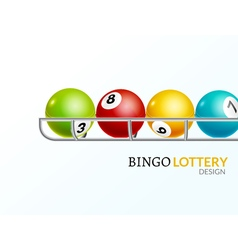 Lottery balls number Lottery game gamble luck vector