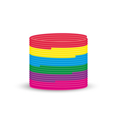 Magic spring rainbow helical toy isolated on the vector