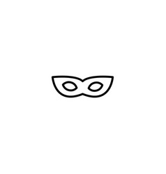 mask party icon vector image
