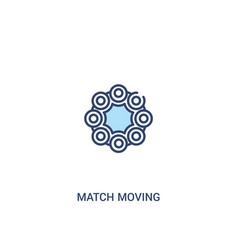 Match moving concept 2 colored icon simple line vector