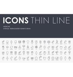 Medicine Thin Line Icons vector