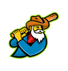 Miner baseball player mascot vector