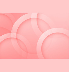 Modern light red backgrounds abstract 3d circle vector