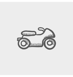 Motor sketch icon vector