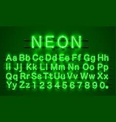 neon font city neon green font eps vector image