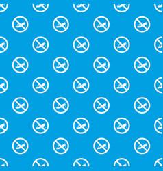 No locust sign pattern seamless blue vector