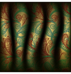 paisley curtain background vector image