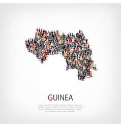 people map country Guinea vector image