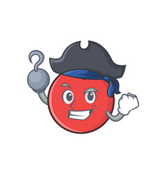 pirate bowling ball character cartoon vector image