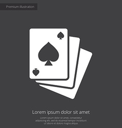 Poker premium icon white on dark background vector