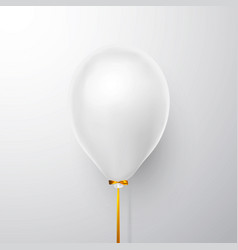 realistic white balloon on white background with vector image