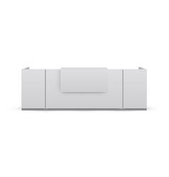 reception desk mockup isolated on white background vector image