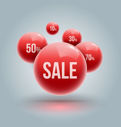Red balls group for sale vector