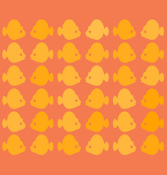 seamless colorful fish pattern with vector image