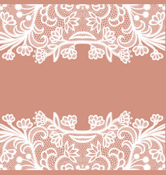seamless lace border invitation card vector image