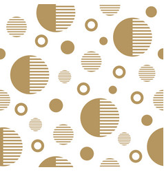 seamless pattern with gold circles vector image