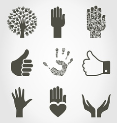 Set of hands4 vector image vector image