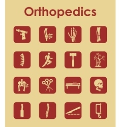 Set of orthopedics simple icons vector image