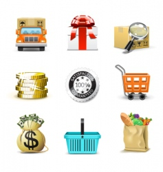 Shopping icons | bella series vector