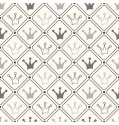 Simple seamless pattern with crown Black and white vector