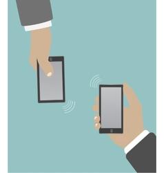 Smartphone in hand wifi vector image
