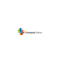 square colored company logo vector image