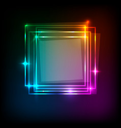 Squares banner on colorful abstract background vector