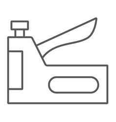 Staple gun thin line icon tool and repair vector