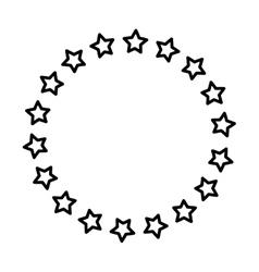 Stars in circle vector