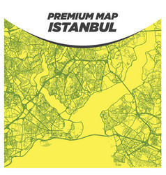 strong and bold yellow map istanbul turkey vector image