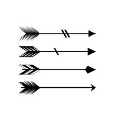 Tribal arrow icon design template isolated vector