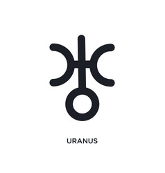 Uranus isolated icon simple element from zodiac vector