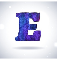 Watercolor letter E vector image