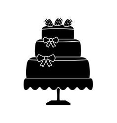 wedding cake glyph icon vector image