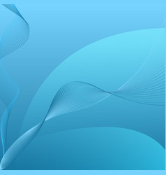 abstract blue curved string background vector image vector image