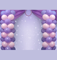 Birthday background with party balloons vector