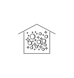 clean house with bubbles icon vector image