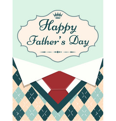 greeting card happy fathers day with menswear vector image vector image