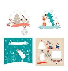 New Year design elements set vector image