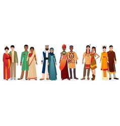 People in national traditional dress clothes vector image vector image