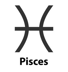 Pisces fish zodiac sign icon vector image vector image