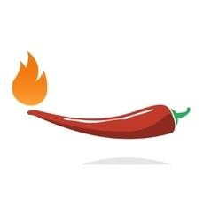 Red hot chili pepper icon vector