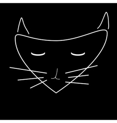 Sign face of cat 2508 vector image