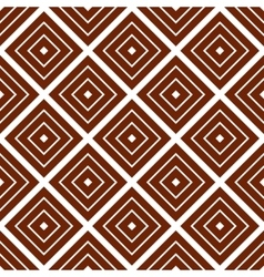 Simple brown background with rombs vector image vector image