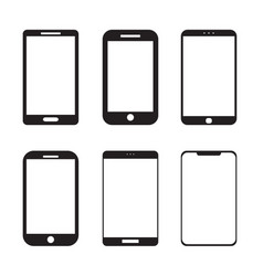 simple mobile smart phone icon set vector image
