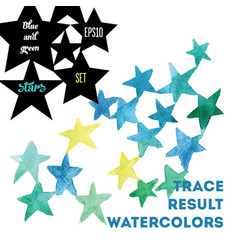 watercolor stars vector image