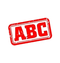 Abc rubber stamp vector image