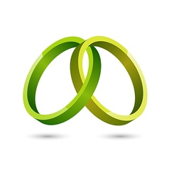 Abstract green circles icon vector image vector image
