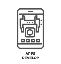 APPS Develop Line Icon vector image vector image