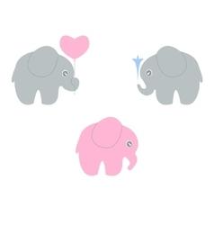 baby elephant set vector image vector image